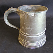 REDUCED Early 19th Century Pint Pewter Measure, James Yates, Birmingham