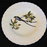 "Lovely Vintage Alfred Meakin Bird 9"" Plate, FORK-TAILED FLYCATCHER #168"