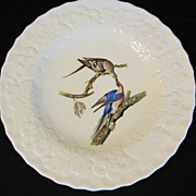 "SALE Lovely Vintage Alfred Meakin Bird 9"" Plate, PASSENGER PIGEON #62"