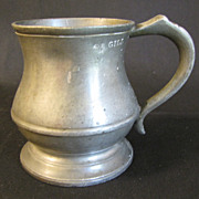 REDUCED Vintage Pewter Measure, Gill, R. Davis, Old Kent Rd. 551
