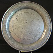 REDUCED Large Hammered Pewter Plate, Unity Pewter England