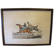 """SALE C. 1821 Colored Engraving Henry Alken """"The Pleasure of Riding in Company"""""""