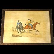 "SALE C. 1821 Colored Engraving Henry Alken ""Preparing for the Easter Hunt"""