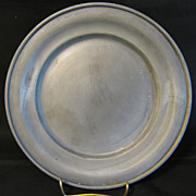 REDUCED Vintage Round French Pewter Plate