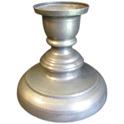REDUCED Vintage Single French Pewter Candle Stick, Not Marked.