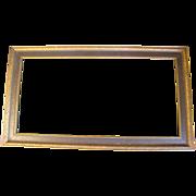 "SALE Lovely 1930's Wood Frame 12 1/2"" x 22 1/2"""