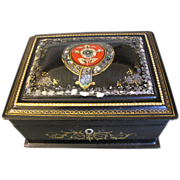 Lovely Antique Papier Mache Sewing Box