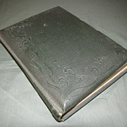 SALE Victorian Photograph Album, Leather Cover, 5 Chromolithograph Pages