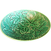SALE Wedgwood Majolica Salad Bowl, Greenware, Overlapping Leaves