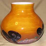Lovely Butterscotch Art Glass Vase, CAITHNESS GLASS