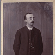 SALE Cabinet Photograph of a Young Man, Priest W/ Glasses