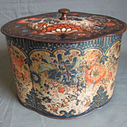 SALE Rare 1902 Peek Frean Biscuit Tin, DERBY, Tea Caddy