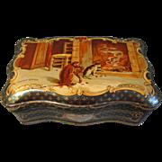 SALE Circa 1910 French Sweet Tin, Marrons Glaces Cholvy Privas