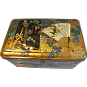 SALE Large Gorgeous Dutch Biscuit Tin, Oriental Design, Bekkers