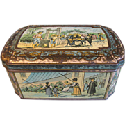 SALE Rare Circa 1887 British Biscuit Tin Huntley & Palmers SPANISH