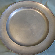 REDUCED Vintage Pewter Charger Frieling Zinn, Germany, (2 Available)