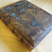 SALE Lovely Embossed Leather Victorian Photo Album
