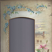 SALE Lovely Floral and Landscape Page From Victorian Photo Album