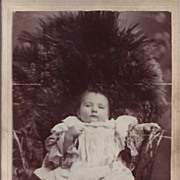SALE Cabinet Photograph of a Baby, Fancy Ruffled Dress
