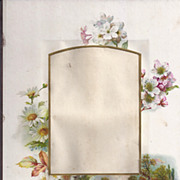 SALE Lovely Page (Mat) from Victorian Photograph Album, Floral/Landscape