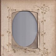 """SALE Page From Victorian Photo Album, Proverb, """"As Welcome"""""""
