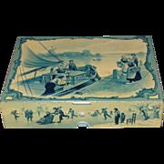 SALE Circa 1897 British Biscuit Tin, Huntley & Palmers, DELFT