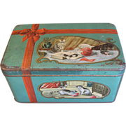 SALE Vintage Biscuit Tin, Adorable Kittens, Numan's Holland