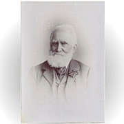 SALE Cabinet Photograph Card, Elderly Gentle, Great Beard