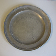 "REDUCED Vintage French Pewter Plate, 9"" Diameter"