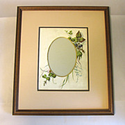 SALE Chromolithograph Page from Victorian Photo Album, Framed