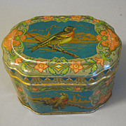Small Vintage European Cocoa Tin, BIRD, Pette Wormerveer