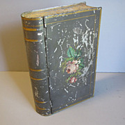 SALE Unusual Vintage Book Biscuit Tin, Unmarked
