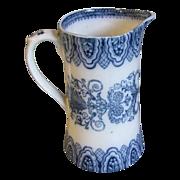 REDUCED Lovely Flow Blue Milk Pitcher BURMESE Cetem Ware, ca 1908