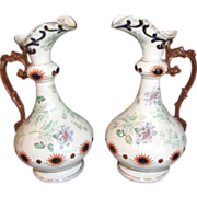 Lovely Matched Pair of Antique English Vases, Ewers