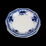 Lovely Flow Blue Butter Pat, IDRIS, W. H. Grindley