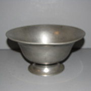 REDUCED Vintage French Pewter Pedestal Bowl