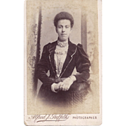 SALE Carte-de-Visite Photograph, Woman in Victorian Dress