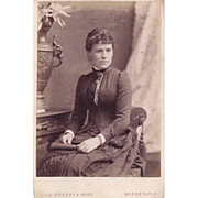 SALE Cabinet Photograph of a Young Woman in Victorian Dress