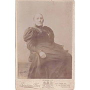 SALE Cabinet Photograph of a Woman in Victorian Dress