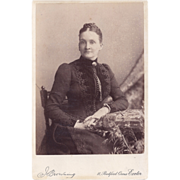 SALE Cabinet Photograph Young Woman, Victorian Dress