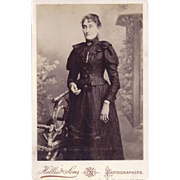 SALE Cabinet Photograph of Woman in Victorian Dress