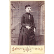 SALE Cabinet Photograph of Young Woman in Victorian Dress