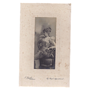 SALE Victorian Photograph of Glamourous Lady