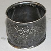 Vintage Silver Plated Napkin Ring, Engraved