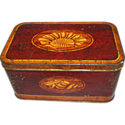 SALE Lovely Vintage Faux Wood-Grain Tin, Mansion Polish