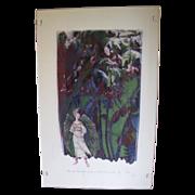 Lovely Silkscreen Print by Charles E. McGough, Nymph