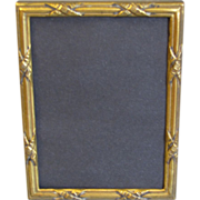 SALE Vintage Stamped Brass Photograph Frame w/Stand