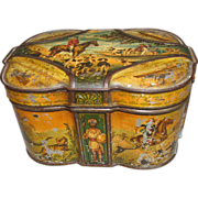 SALE Rare 1891 Huntley & Palmers British Biscuit Tin, WORLD