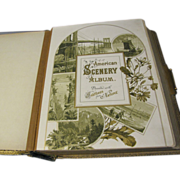 SALE Lovely 1884 Victorian Photograph Album, AMERICAN SCENERY