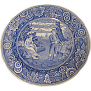 SALE Collectible Blue & White Plate, WOODMAN